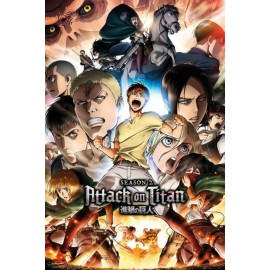 Poster Attack On Titan Season 2 Season 2 Collage Key Art