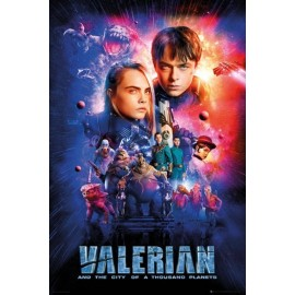 Poster Valerian One Sheet Cast