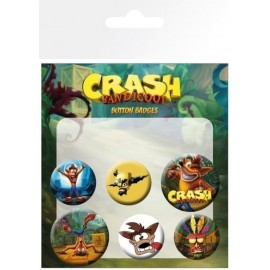 Pack De Chapas Crash Bandicoot Mix