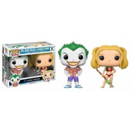 Pop Vinyl 2 Pack Dc Comics Beach Joker And Harley