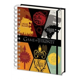 Notebook A5 Game Of Thrones Sigils Wiro