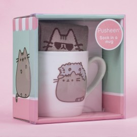 Mug And Sock Stormy And Pusheen