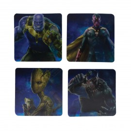Coasters 3D Lenticular Marvel Avengers Infinity War