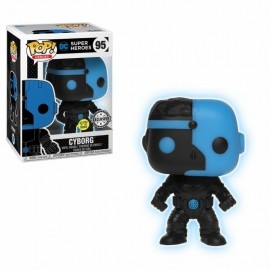 Pop Vinyl Justice League Cyborg Silhouette Glow In The Dark