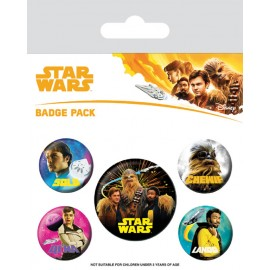Pack Badges Star Wars Solo Characters