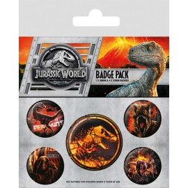 Pack Chapas Jurassic World Fallen Kingdom