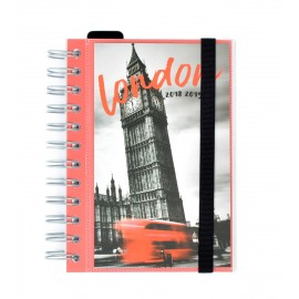 Agenda Escolar 2018/2019 Dp Wire-O London
