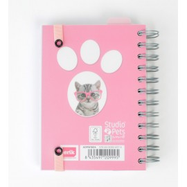 Agenda Escolar 2018/2019 Dp Wire-O Studio Pets Cat