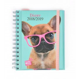 Agenda Escolar 2018/2019 Sv Wire-O Int Studio Pets Dog