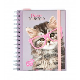 Agenda Escolar 2018/2019 Sv Wire-O Int Studio Pets Cat