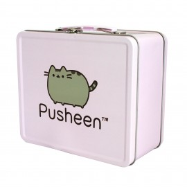 Maletin Metalico Pusheen Lila