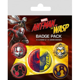 PACK CHAPAS ANTMAN & THE WASP