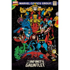 POSTER MARVEL RETRO THE INFINITY GAUNTLET