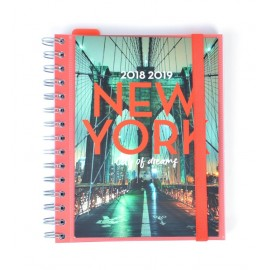 Agenda Escolar 2018/2019 Sv Wire-O New York