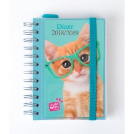 Agenda Escolar 2018/2019 Dp Wire-O Int Studio Pets Cat