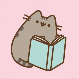 PRINT 30X30 CM PUSHEEN THE CAT READING