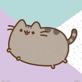 PRINT 30X30 CM PUSHEEN THE CAT JUMPING