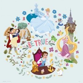 PRINT 30X30 CM DISNEY PRINCESS BE TRUE