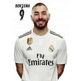 POSTAL REAL MADRID 2018/2019 BENZEMA BUSTO