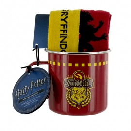 Set Taza Y Calcetines Harry Potter Gryffindor Qudditch