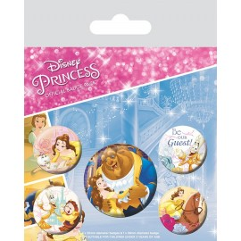 PACK CHAPAS BEAUTY AND THE BEAST CLASSIC