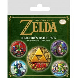 PACK CHAPAS THE LEGEND OF ZELDA CLASSICS