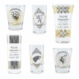 VASOS SET DE 6 GAME OF THRONES BLACK AND GOLD PREMIUM