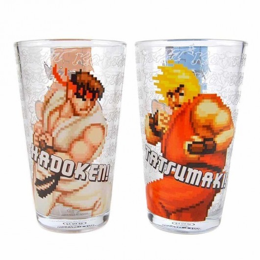 SET 2 VASOS STREET FIGHTER RYU AND KEN