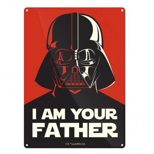 CHAPA METALICA STAR WARS I AM YOUR FATHER