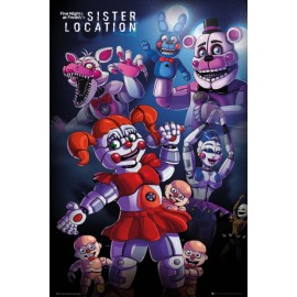 POSTER FIVE NIGHTS AT FREDDYS SISTER LOCATION GROUP