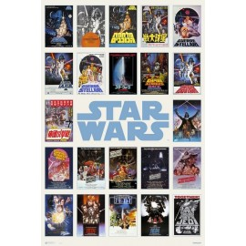 POSTER STAR WARS CLASSIC ONE SHEET COLLAGE