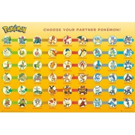 POSTER POKEMON PARTNER