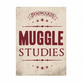 CHAPA METALICA PEQUE¥A HARRY POTTER MUGGLE STUDIES