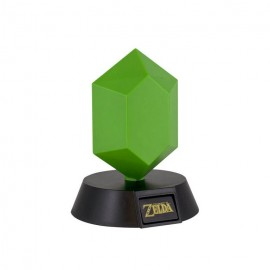 LAMPARA 3D THE LEGEND OF ZELDA GREEN RUPEE