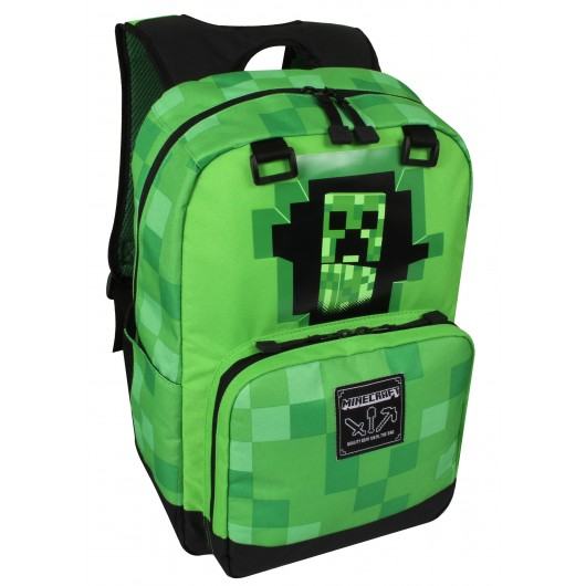 MOCHILA MINECRAFT CREEPY CREEPER GREEN