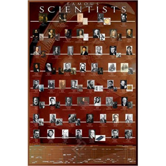 POSTER  HOBBY FAMOUS SCIENTISTS