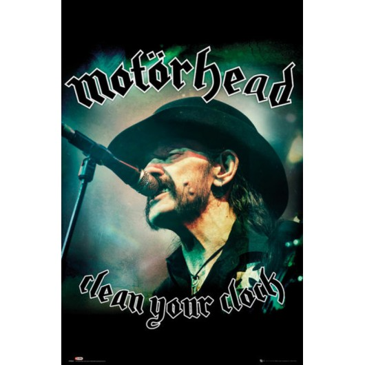 POSTER MOTORHEAD CLEAN YOUR CLOCK GLOBAL