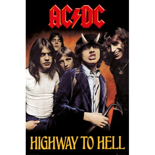 POSTER AC DC HIGHWAY TO HELL