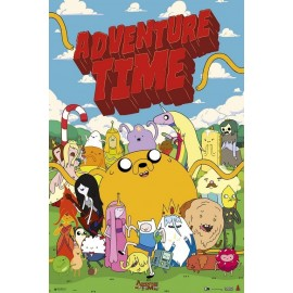 POSTER ADVENTURE TIME-PERSONAJES