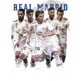 POSTAL A4 REAL MADRID 2018/2019 GRUPO