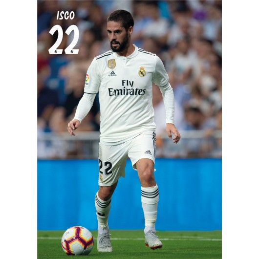 POSTAL A4 REAL MADRID 2018/2019 ISCO