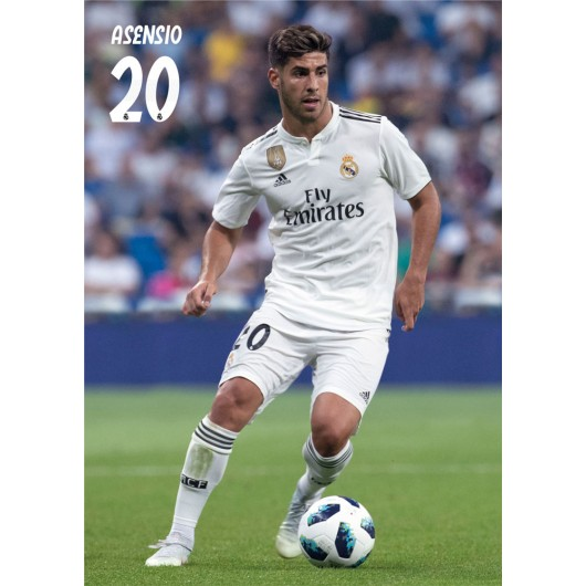 POSTAL A4 REAL MADRID 2018/2019 ASENSIO