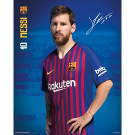 MINI POSTER FC BARCELONA 2018/2019 MESSI POSE