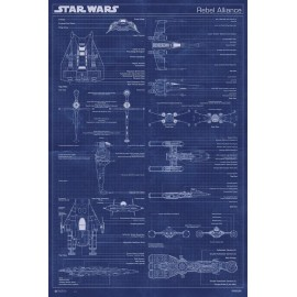 POSTER STAR WARS CLASSIC ALLIANCE MACHINE