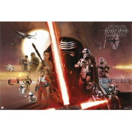 POSTER STAR WARS VII ALL CHARACTERS