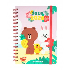 AGENDA ESCOLAR 2019/2020 A5 12 MESES LINE FRIENDS