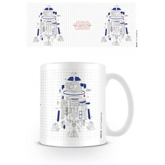 TAZA STAR WARS THE LAST JEDI R2D2 EXPLODED VIEW