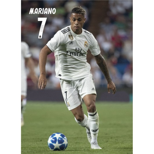 POSTAL REAL MADRID 2018/2019 MARIANO ACCION