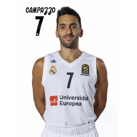 POSTAL REAL MADRID BALONCESTO 2018/2019 CAMPAZZO