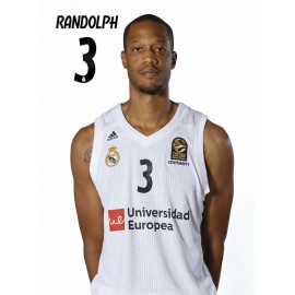 POSTAL REAL MADRID BALONCESTO 2018/2019 RANDOLPH